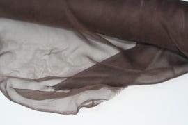 Chiffon zijde 3.5, bruin, 110 breed, per meter, 14g/m, prijs
