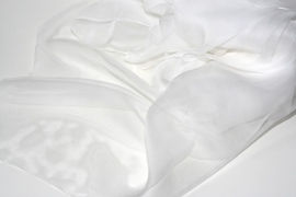 Chiffon zijde wit 3.5 ,90cm breed, 14g/m, prijs per 50 cm