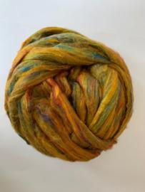 Sari zijden, multi geel, per 10 gram, prijs