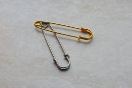 Dekenspelden, goudkleur, 76 mm, per stuk