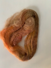 zijden lont, 3 gram, nummer 60 bruin oranje tinten