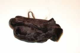 Moerbei zijdenlont  donker bruin, 10gram