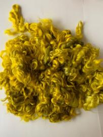 Gotland krullen geel groen, nummer 15  per 20 gram