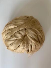 Moerbei zijdenlont uit India, natuur kleurig,  8 gram