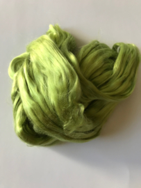 zijden lont, 80 cm, helder groen