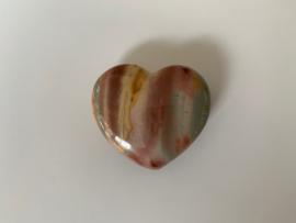 Polychroom jaspis hart, nummer 9