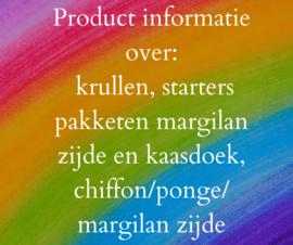 Video over product informatie. o.a. assortiment aan krullen, uitleg starters pakketen margilan zijde en kaasdoek, uitleg over chiffon/ponge/ margilan zijde