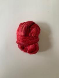 zijden lont, 3 gram, nummer 84 rose rood