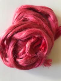 Moerbei zijden donker  rosé, 10 gram