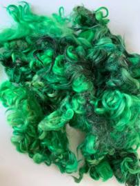 Gotland krullen, nummer 24 fel gras groen tinten per 20 gram