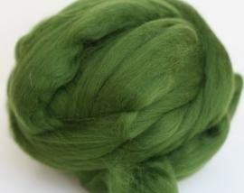 Merinowol (50 gram), donker mosgroen, kleurcode 160, 20-21 micron