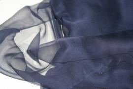 Chiffon zijde spijkerbroek, 110cm, 14g/m, prijs per meter