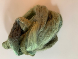 zijden lont, 3 gram, nummer 91 oud groen tinten
