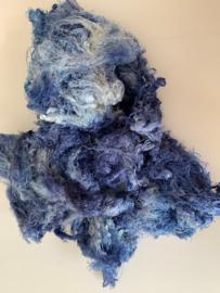 Zijde waste, 5 gram, blauw tinten, nummer 75