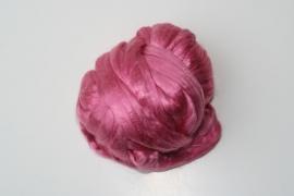 zijden lont, 80 cm, helder rose, kleurcode 146