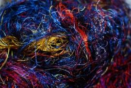Zijden vezels, multi color, per 10 gram