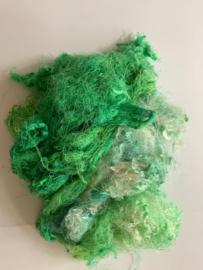 Zijde waste, 5 gram, gel groen, nummer 64
