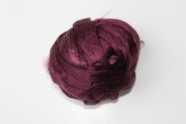 zijden lont, 80 cm, aubergine, kleurcode 112