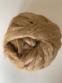 Moerbei zijdenlont uit India, licht bruin kleurig,  8 gram