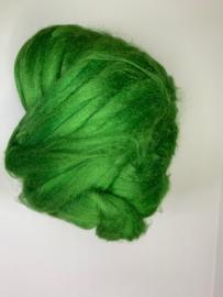Tussah zijdenlont  groen, 10 gram