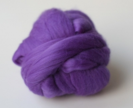 Merinowol (50 gram), middel lila, kleurcode  204, extra fijn, 18 micron