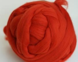 Merinowol (50 gram), oranje rood, kleurcode 156, 20-21 micron