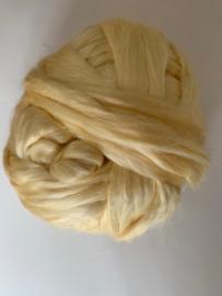 Moerbei zijdenlont uit India, geel kleurig,  8 gram