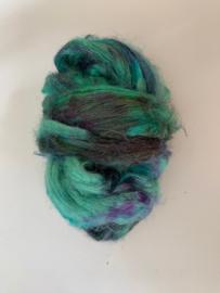 zijden lont, 3 gram, nummer 113 turquoise multi