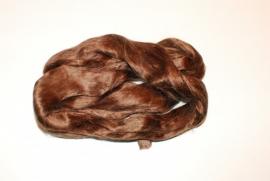 Moerbei zijdenlont midden bruin. 10 gram