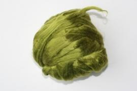 zijden lont, 80 cm, mos groen, kleurcode 122