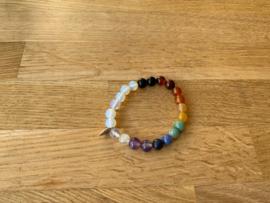 Armband, 8 mm edelstenen, nummer 6