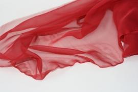 Chiffon zijde rood, 110 cm 14g/m, prijs per meter