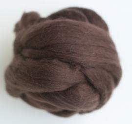 Merinowol (50 gram), donkerbruin, kleurcode 110, 20-21 micron