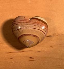 Polychroom jaspis hart, nummer 4