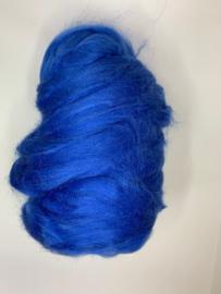 Tussah zijdenlont kobalt, 10 gram,