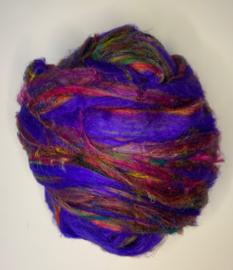 Sari zijden, paars multi, per 10 gram, prijs