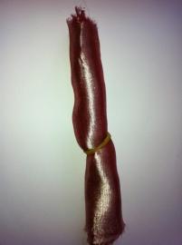 Metaalzijde, rood, 20cm bij 130cm