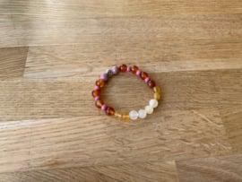 Armband, 8 mm edelstenen, nummer 4
