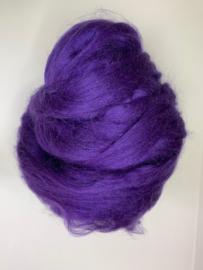 Tussah zijdenlont paars, 10 gram