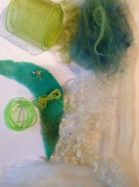 elfjes pakket groen tinten