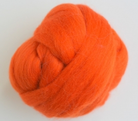 Merinowol (50 gram), oranje, kleurcode 123, 20-21 micron