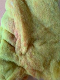 Merino wol in vlies 21 micron, multi per 50 gram