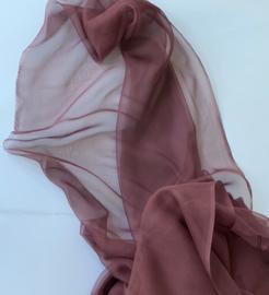 Chiffon zijde 3.5, bordeaux , 110 breed, per meter, 14g/m, prijs