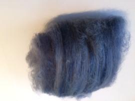 Gekaarde merinowol, spijker blauw grijs, per 25 gram