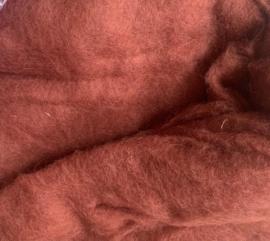 Bergschaap in vlies, eekhoorn bruin