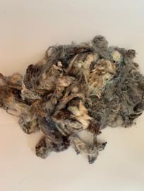 Zijde waste, 5 gram, bruin grijs, nummer 74