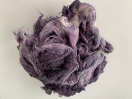 Sari zijde gekaard,  nummer 12 amethist paars tinten , per 10 gram