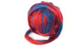 Potloodlont, rood-bordeaux-blauw, 10 gram