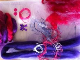 engelen pakket, rose paars