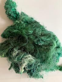 Zijde waste, 5 gram, groenig, nummer 63